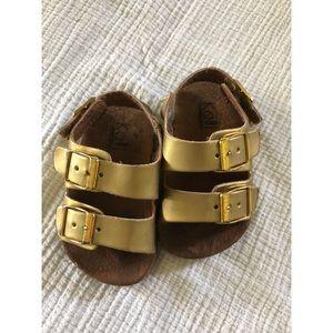 Gold Infant Sandals